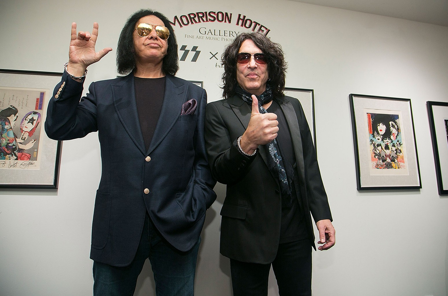 Gene Simmons and Paul Stanley in West Hollywood