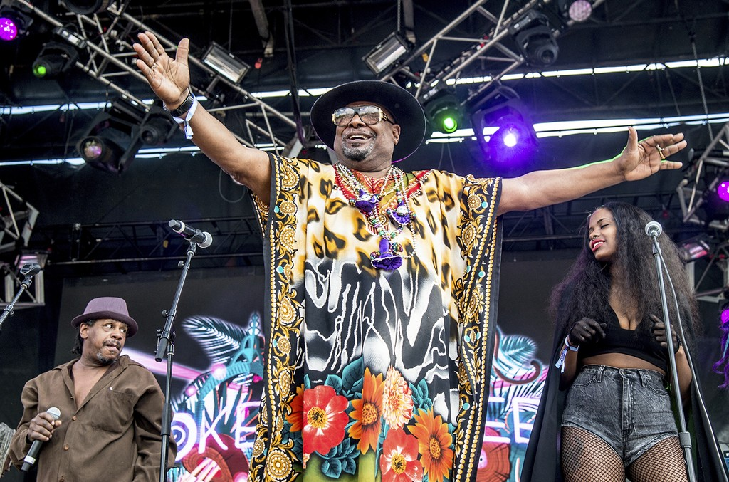 George Clinton of George Clinton and Parliament Funkadelic performs at the Okeechobee Music and Arts Festival on March 4, 2017 in Okeechobee, Fla.