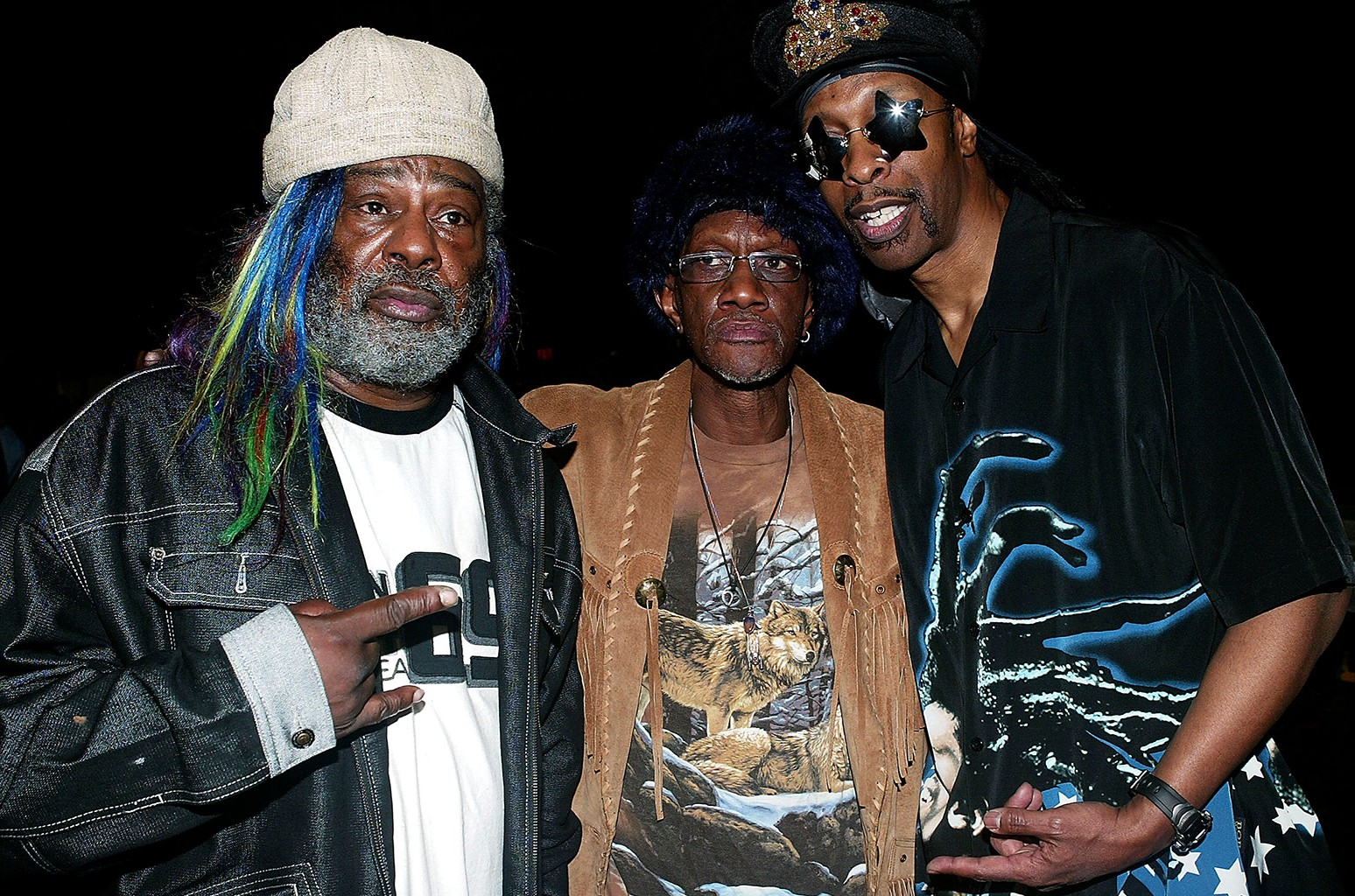 George Clinton, Bernie Worrell and Bootsy Collins