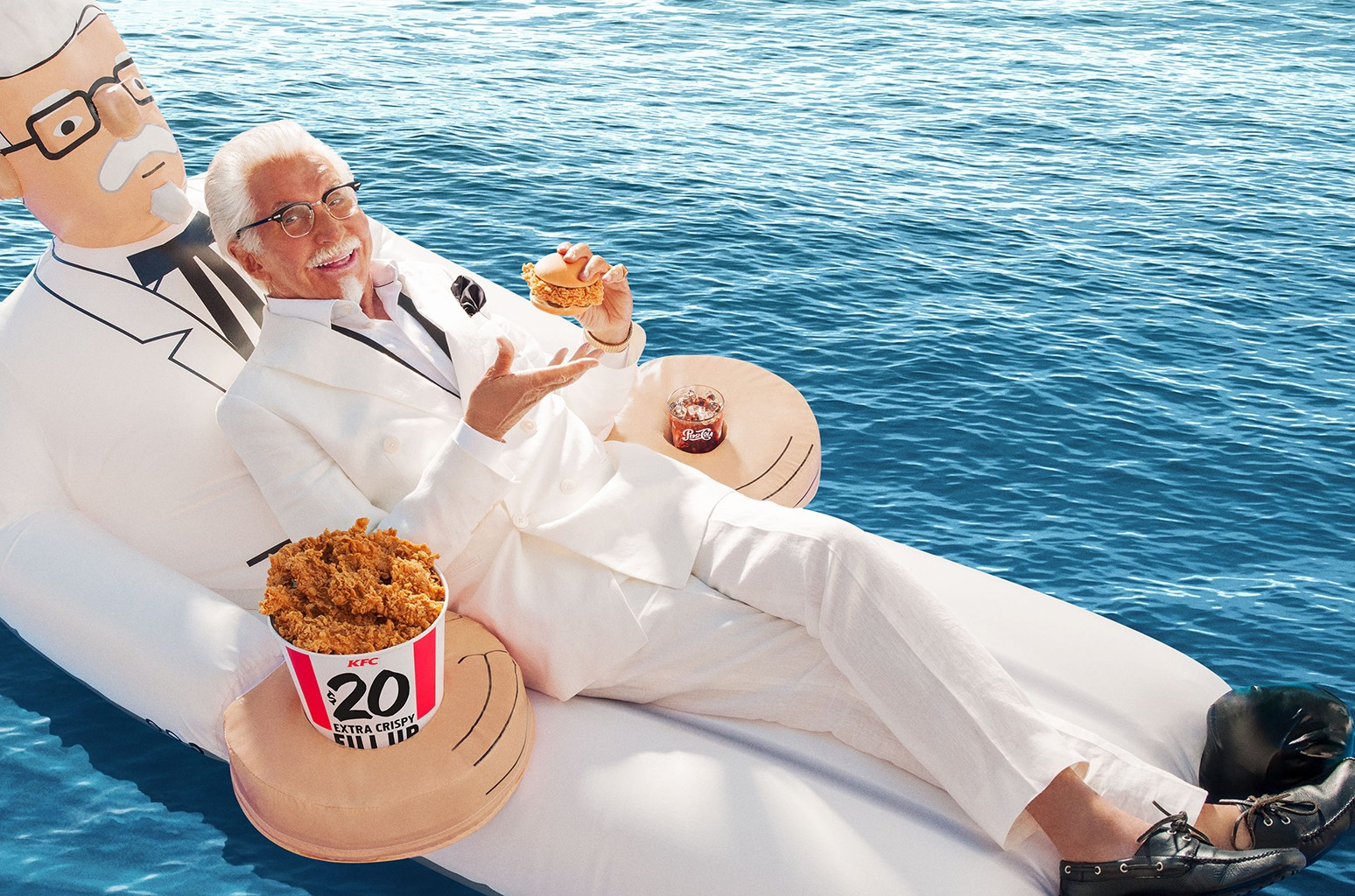 George Hamilton as the Extra Crispy™ Colonel