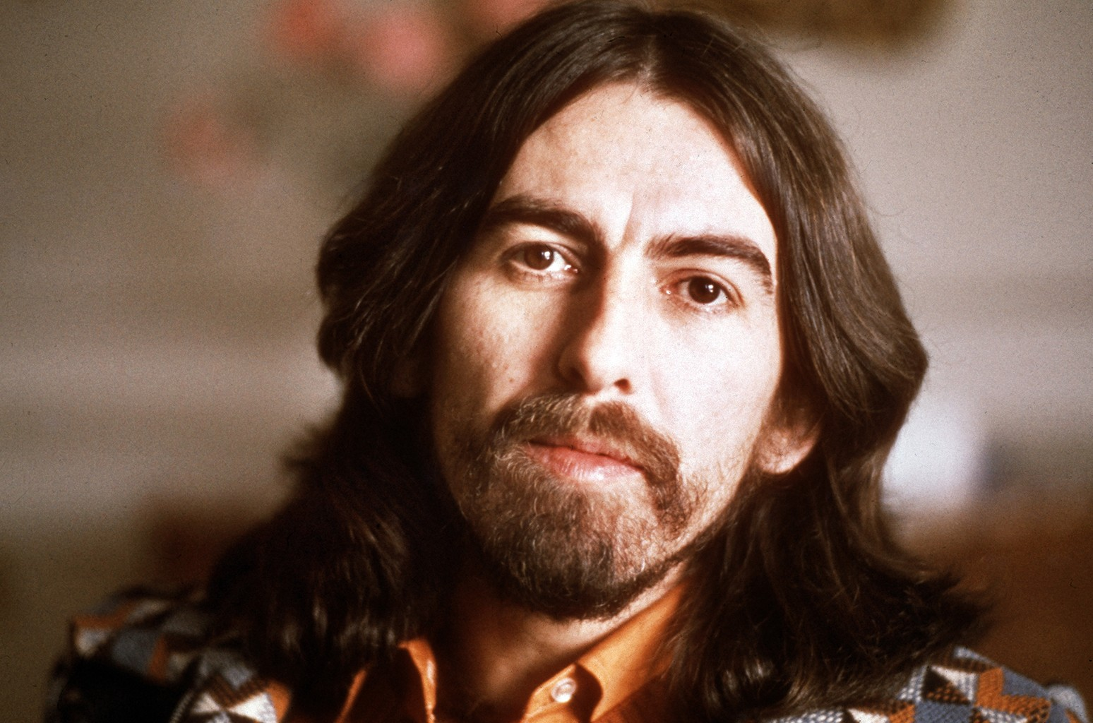 George Harrison photographed on Jan. 30, 1976.