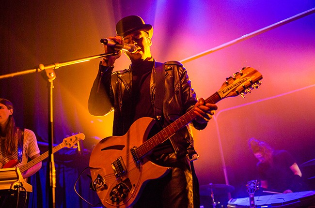 George Lewis Jr. of Twin Shadow performs at The Republic on March 24, 2015 in New Orleans