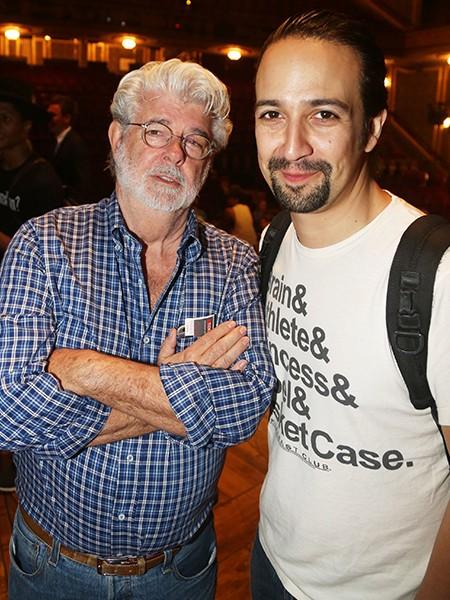George Lucas Lin Manuel Miranda Hamilton 2015