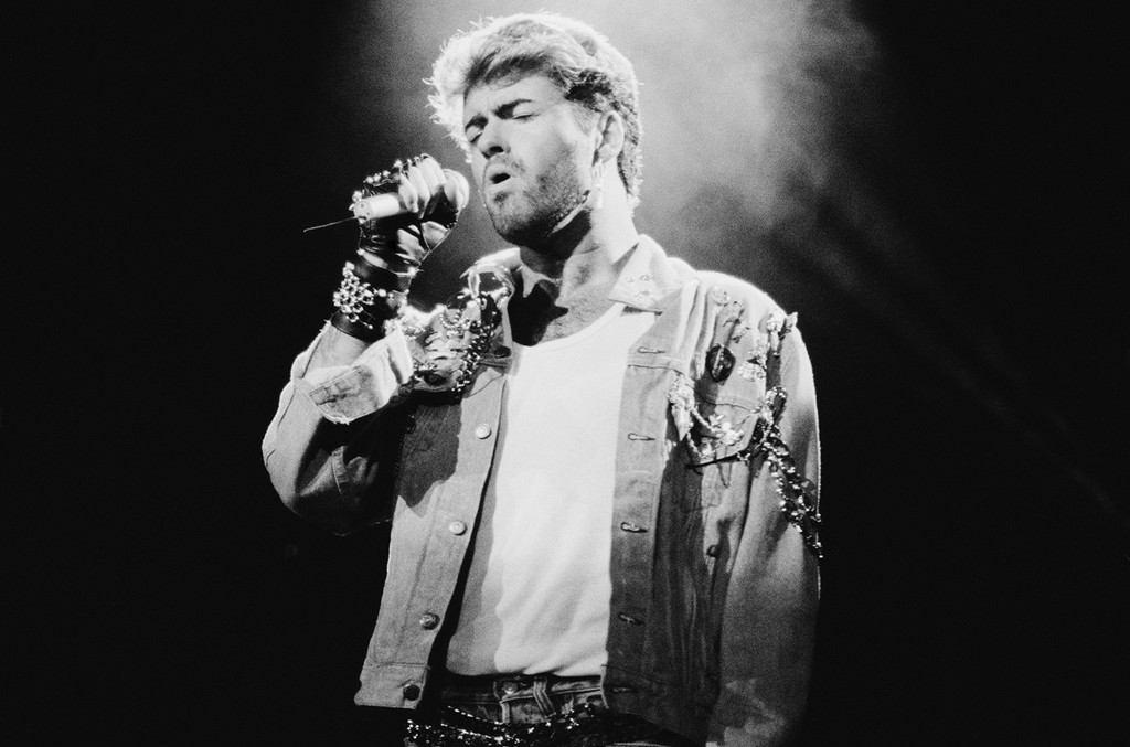 George Michael performs in 1988.