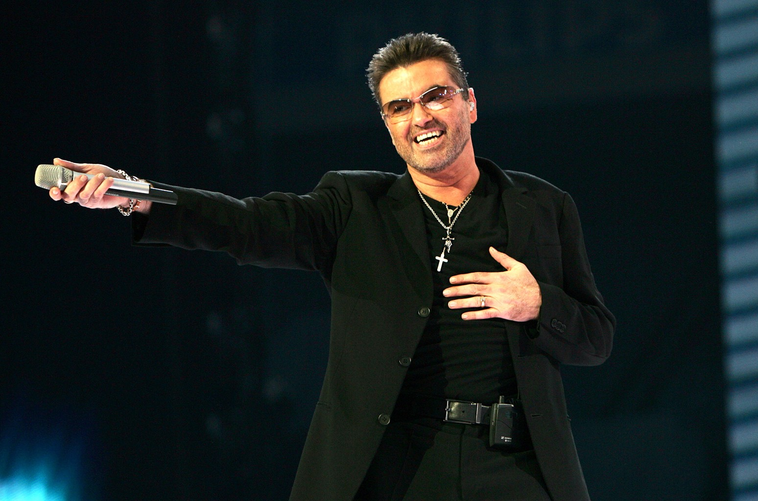 George Michael performs at the Arena on June 26, 2007 in Amsterdam.