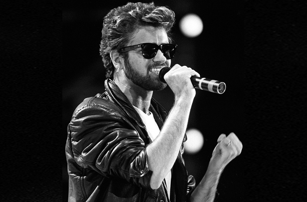 George Michael performs in London.