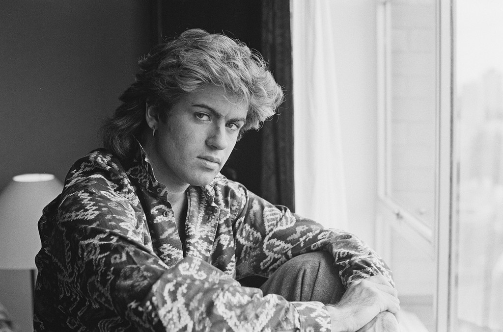 George Michael photographed in 1985.