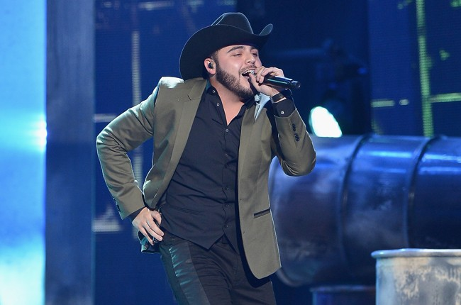 Gerardo Ortiz performs onstage at the 2015 Billboard Latin Music Awards