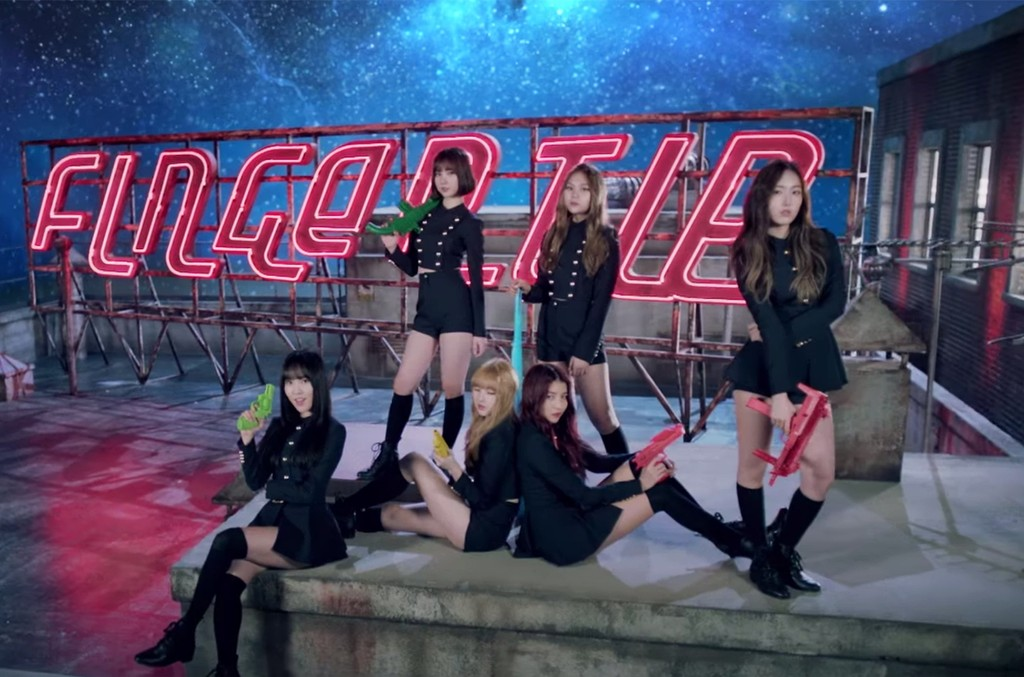 "Gfriend in the video for ""Fingertip"""