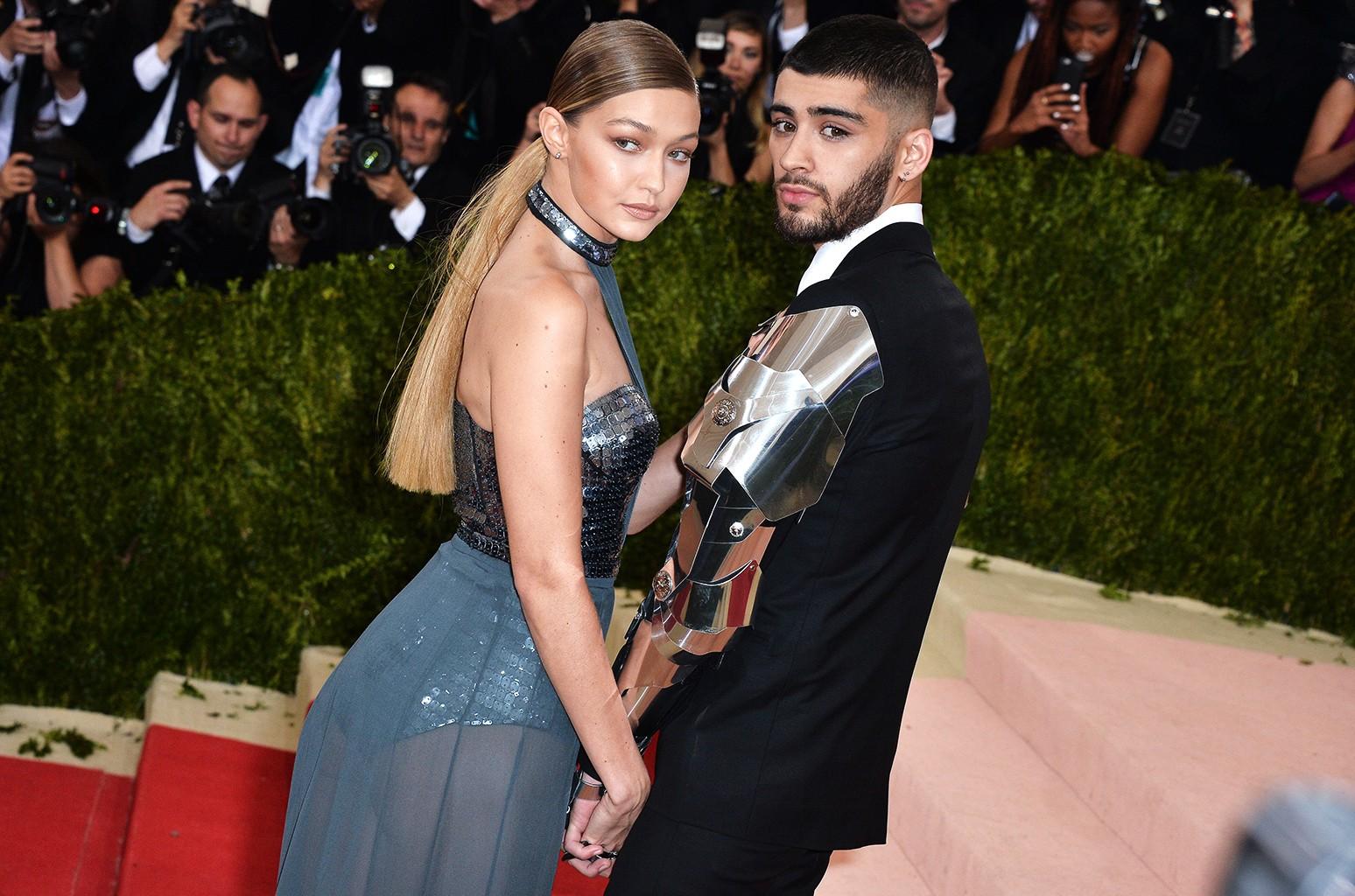 Zayn Malik and Gigi Hadid attend the 2016 Met Gala