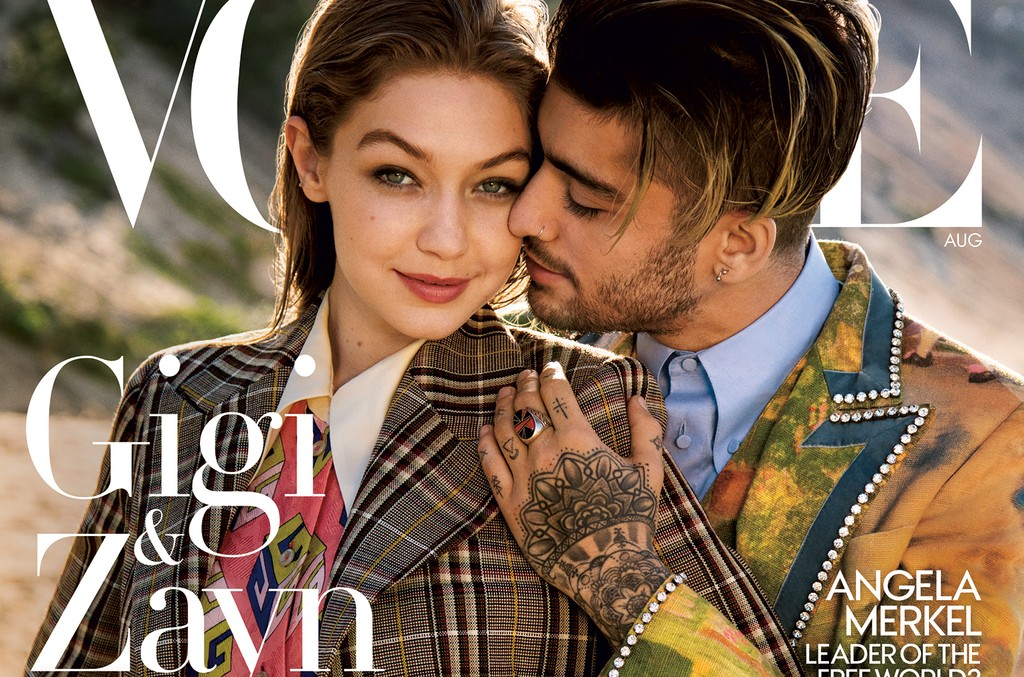 Gigi Hadid and Zayn in the Aug. 2017 issue of Vogue.