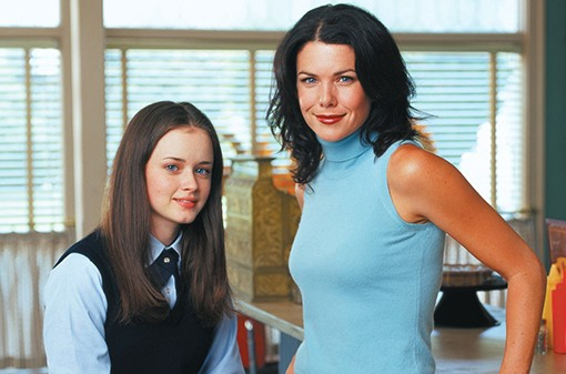"Alexis Bledel and Lauren Graham as Rory and Lorelai in the first season of ""Gilmore Girls."""