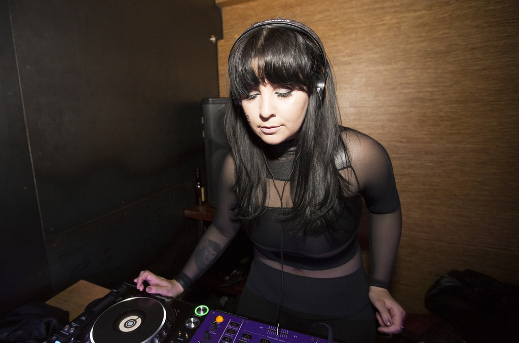 DJ Gina Turner performs at Middlesex Lounge on May 12, 2015.