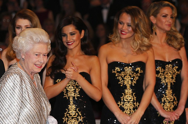 girls aloud with the queen 2012