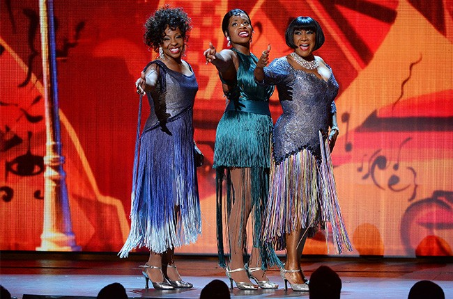 Gladys Knight, Fantasia Barrino and Patti Labelle perform onstage during the 68th Annual Tony Awards
