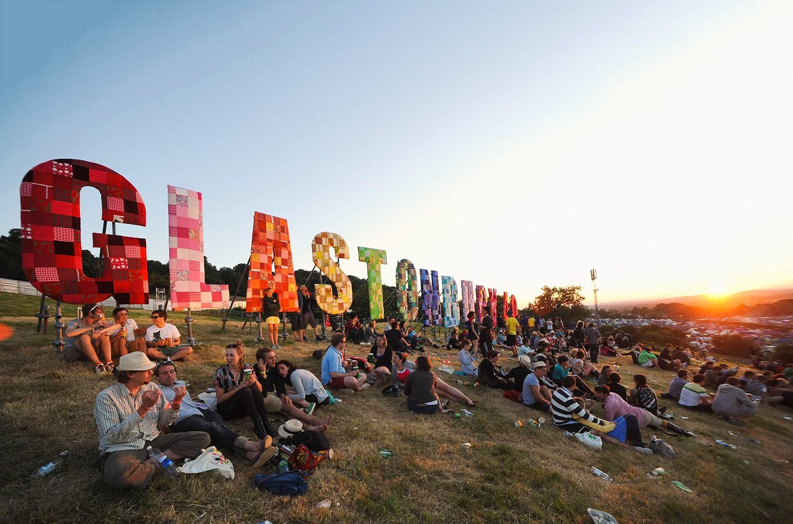 Glastonbury Festival in Glastonbury, England