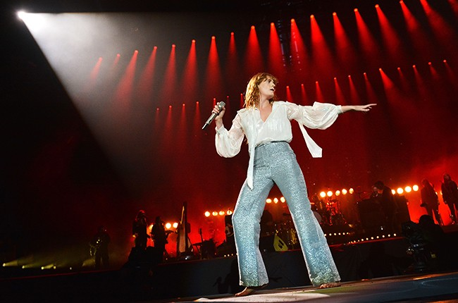 Florence Welch of Florence And The Machine Pyramid stage Glastonbury