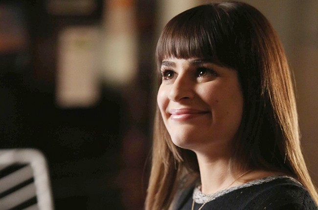 "Lea Michele in the ""Old Dog New Tricks"" episode of Glee"