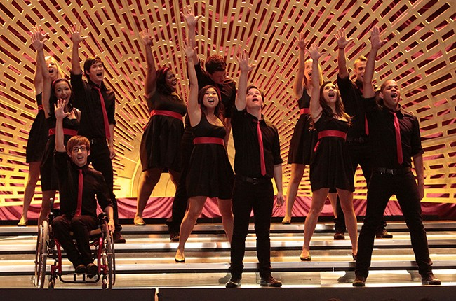 New Directions perform at sectionals in the fall finale episode of season one of Glee on Fox.