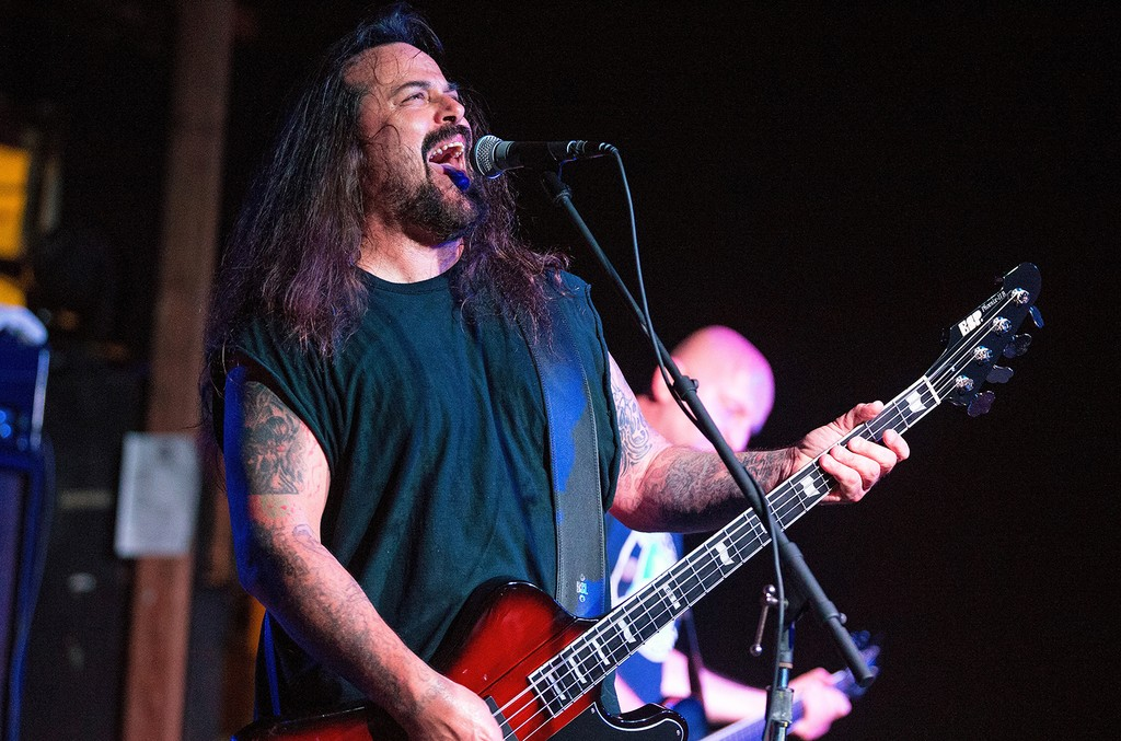Glen Benton of Deicide performs live at The Emerson Theater on May 30, 2015 in Indianapolis.