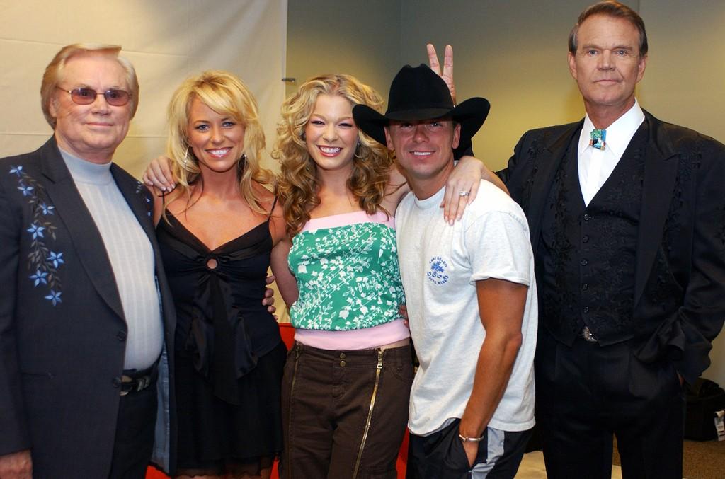 George Jones, Deana Carter, LeAnn Rimes, Kenny Chesney & Glen Campbell, 2003