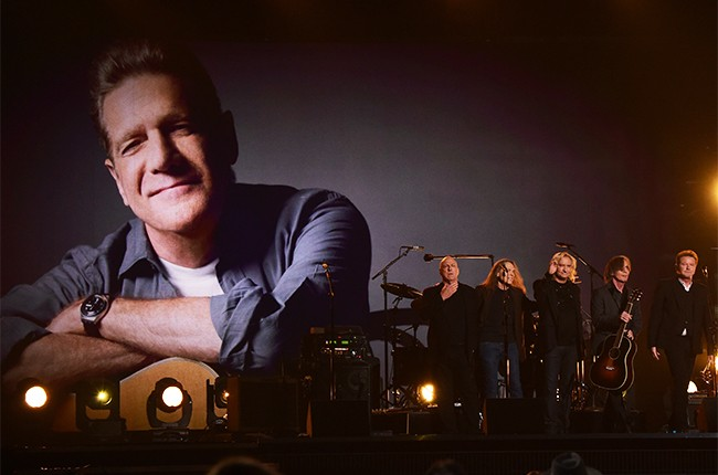The Eagles perfrom onstage during the 58th Annual Grammy music Awards in Los Angeles February 15, 2016.