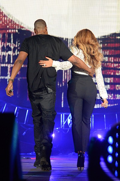 Jay Z and Beyonce at Global Citizen Fest 2014