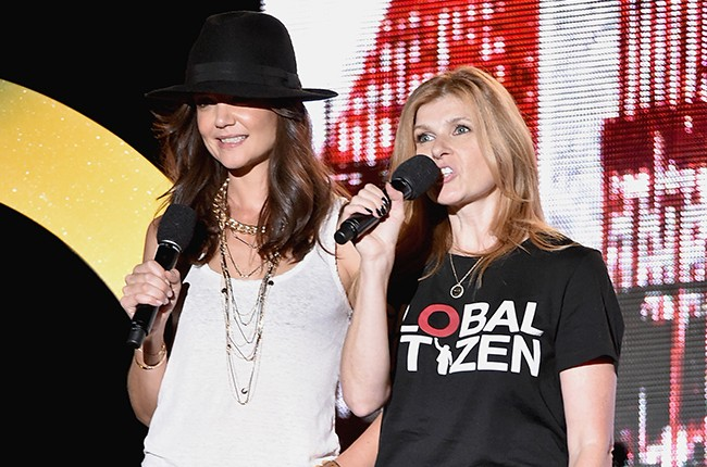 Kaite Holmes and Connie Britton at Global Citizen Fest 2014