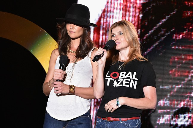 Katie Holmes and Connie Britton