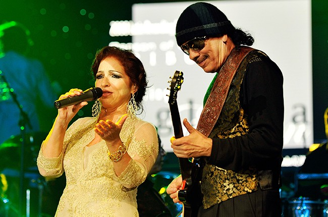 Gloria Estefan and Carlos Santana