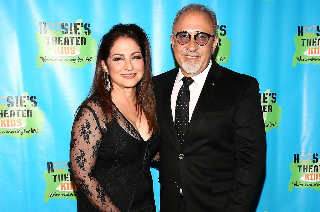 Gloria Estefan and Emilio Estefan attend the 13th Annual Rosie's Theater Kids Gala at New York Marriott Marquis Hotel on Sept. 28, 2016 in New York City.