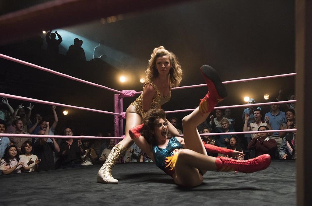 A scene from the Netflix series Glow