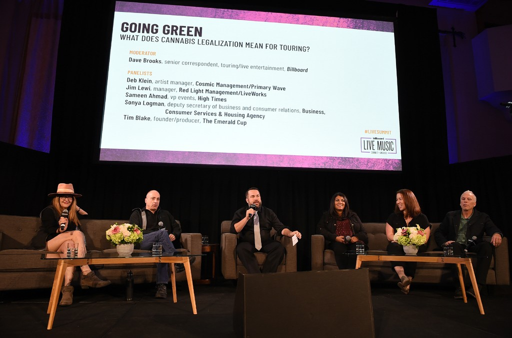 Going Green: What Does Cannabis Legalization Mean for Touring panel at the 2018 Billboard Live Music Summit + Awards at the Montage Beverly Hills on Nov. 14, 2018 in Beverly Hills, Calif.