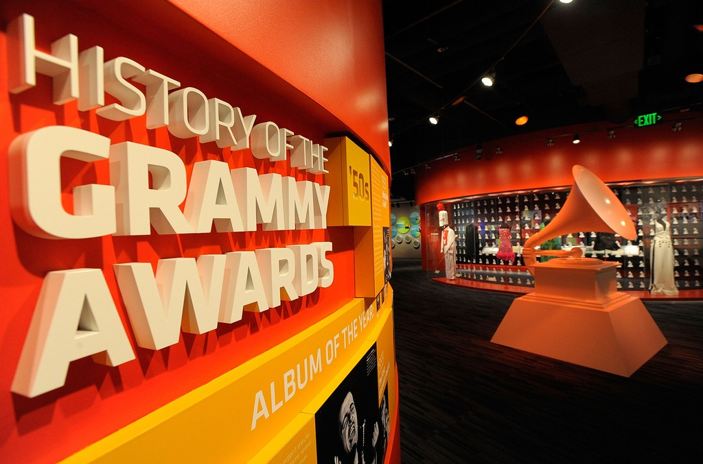 An interior view of the Grammy Museum in Los Angeles on Dec. 2, 2008.