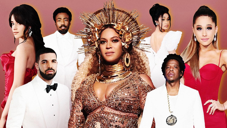 Camila Cabello, Drake, Childish Gambino, Beyoncé, Cardi B, Jay-Z & Ariana Grande