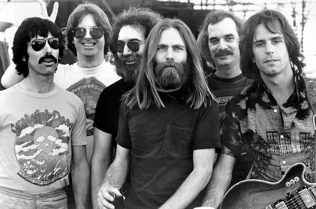 Photo of Grateful Dead in the 1960s.