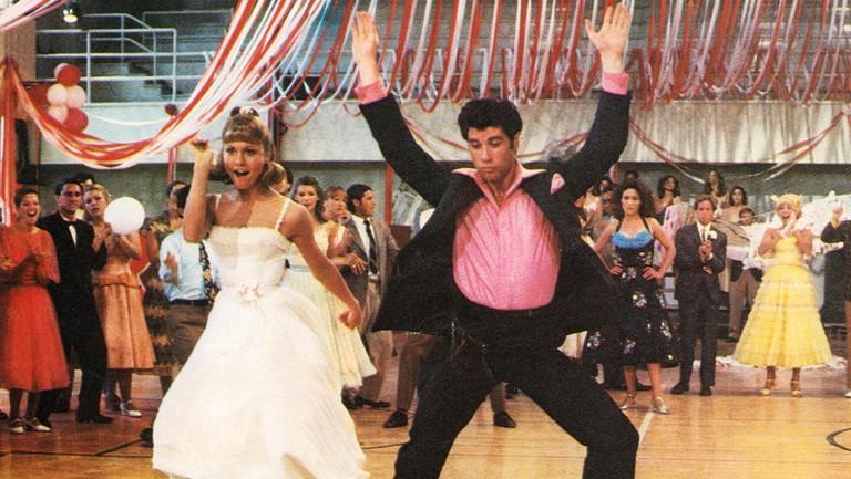 <p>Olivia Newton-John&nbsp&#x3B;and John Travolta in Grease in 1978.</p>