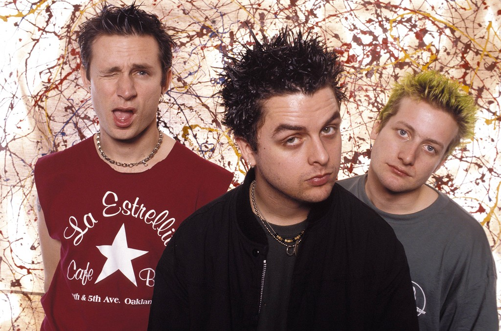 Green Day photographed in the early 90s.