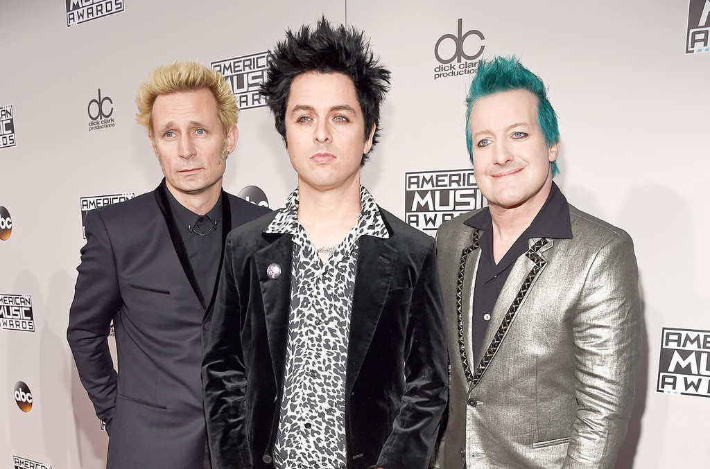 Green Day attend the 2016 American Music Awards at Microsoft Theater on Nov. 20, 2016 in Los Angeles.