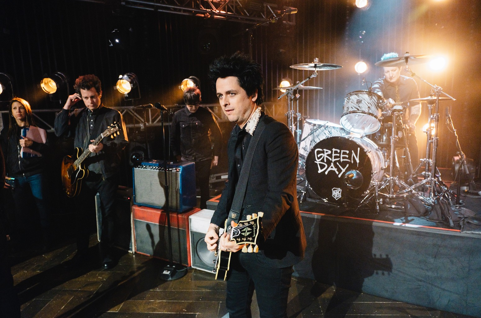 Green Day performs on The Late Late Show with James Corden