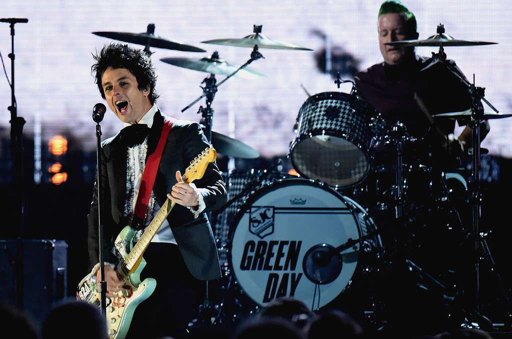 Billie Joe Armstrong and Tre Cool of Green Day
