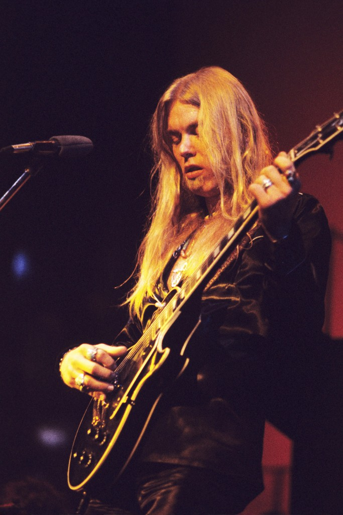 Gregg Allman onstage at the Fox Theater in Atlanta on May 20, 1974.