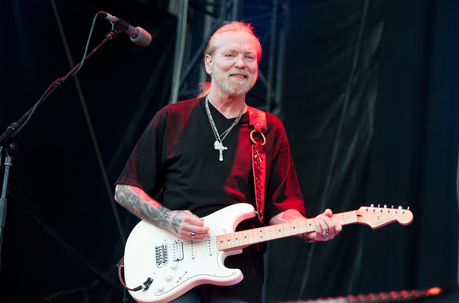 Gregg Allman performs on stage on the third day of Azkena Rock Festival at Recinto Mendizabala on June 25, 2011 in Vitoria-Gasteiz, Spain.