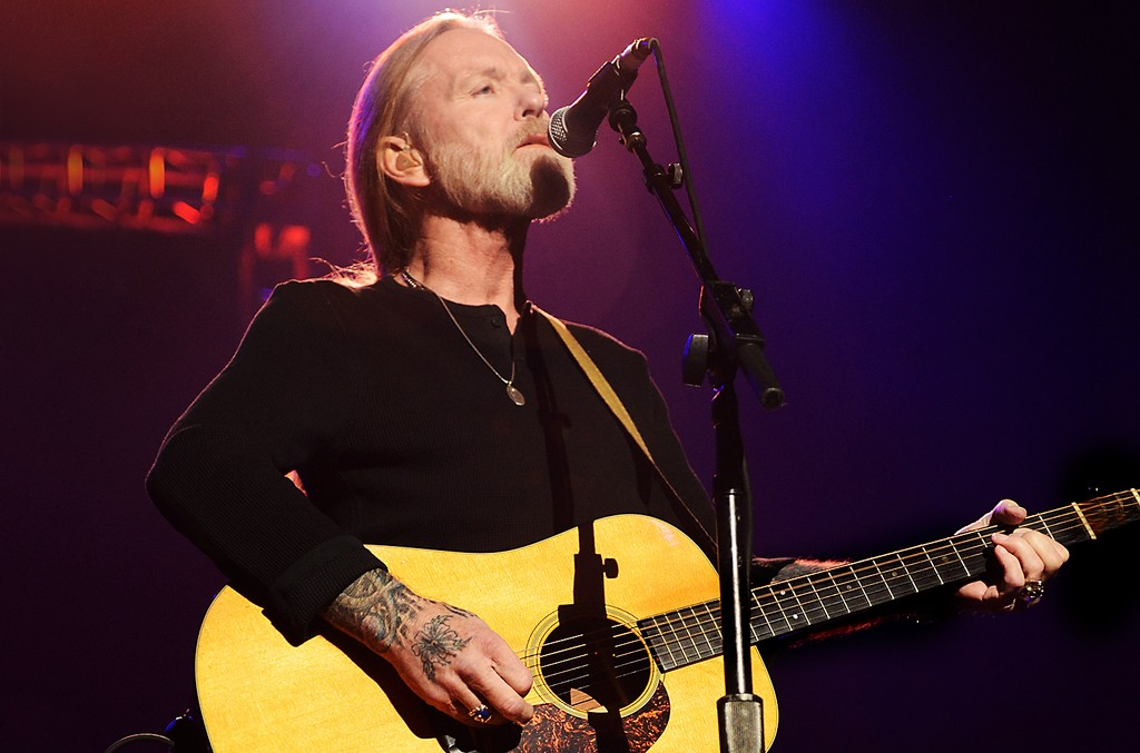 Gregg Allman performs on stage during 'Love For Levon' Benefit To Save The Barn at Izod Center on Oct. 3, 2012 in East Rutherford, N.J.