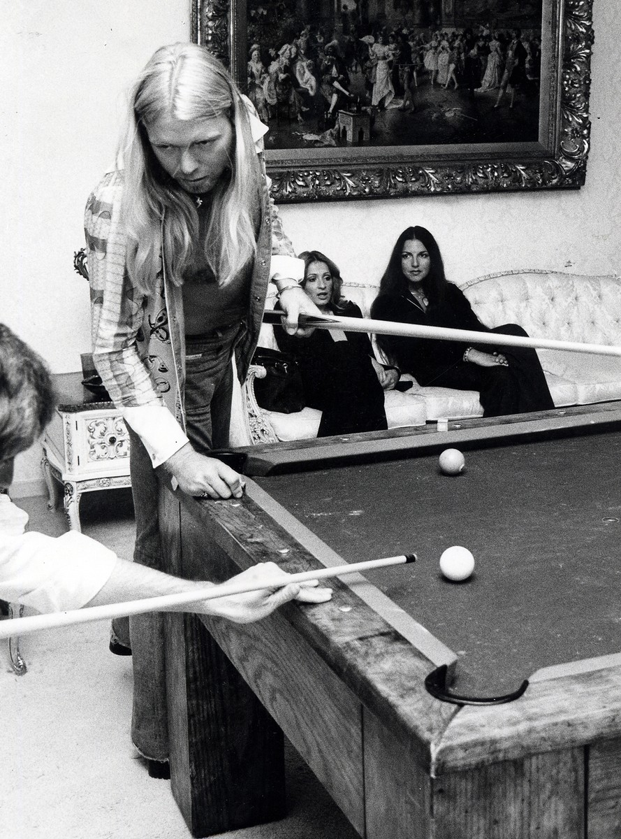Gregg Allman of The Allman Brothers Band at the birthday Party for Bill Oskow on May 20, 1977.