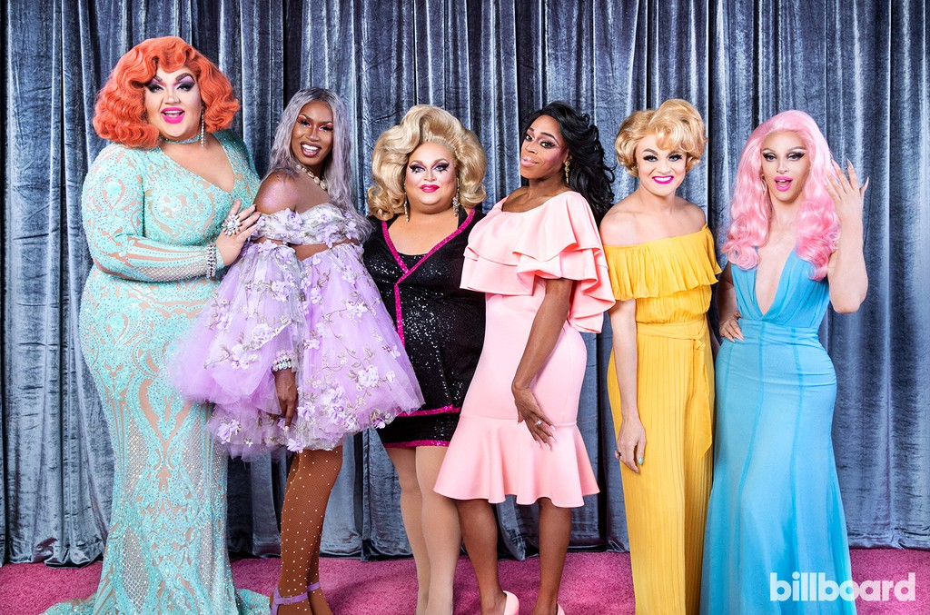 Eureka O'Hara, Shea Couleé, Ginger Minj, Jasmine Masters, Tammie Brown, and Miz Cracker