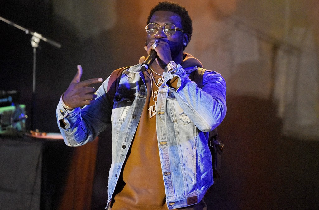 Gucci Mane performs during the Make Trap Great Again showcase at Stubb's Bar-B-Que during the 2017 SXSW Conference And Festivals on March 18, 2017 in Austin, Texas.