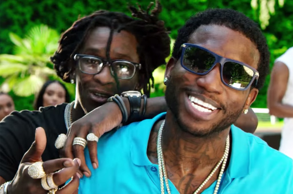 """Gucci Mane and Young Thug in the video for """"Guwop Home."""""""