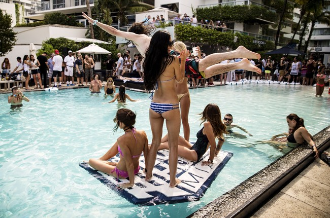 Attendees enjoy Red Bull Guest House in Miami