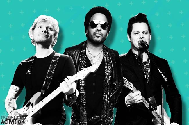 guitar-hero-chart Ed Sheeran, Lenny Kravitz and Jack White